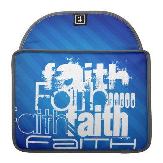Faith; Royal Blue Stripes MacBook Pro Sleeve