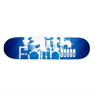 Faith; Royal Blue Stripes Custom Skateboard