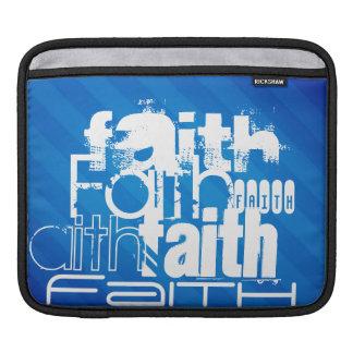 Faith; Royal Blue Stripes Sleeve For iPads