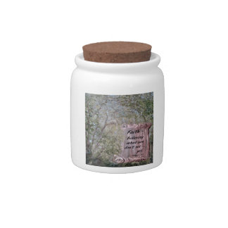 Faith Scroll Candy Jar