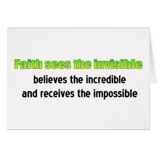 Faith sees the invisible card