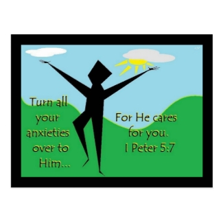 Faith Series 1st Peter 5:7 Scripture Art