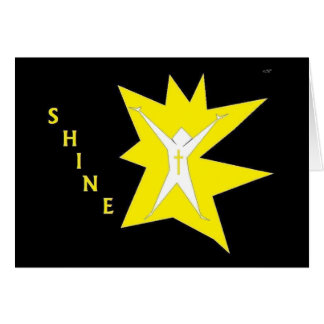 "Faith Series ""Shine"" Christian decorative art Stationery Note Card"