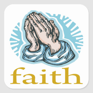 Faith Square Sticker