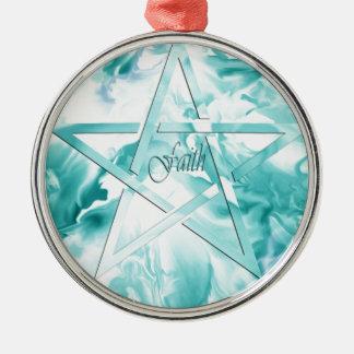 FAITH-Star of David Round Ornament