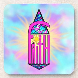 Faith ~ Steeple Beverage Coaster