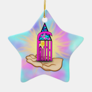 Faith ~ Steeple Ceramic Ornament