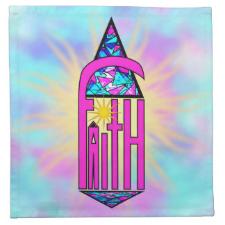 Faith ~ Steeple Cloth Napkin