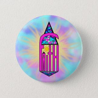 Faith ~ Steeple Pinback Button