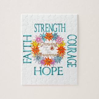 Faith Strength Courage CRPS RSD Awareness Wreath Jigsaw Puzzle