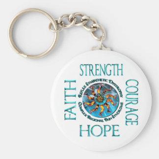 Faith Strength Courage Hope CRPS RSD Keychains