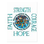 Faith Strength Courage Hope CRPS RSD Postcard