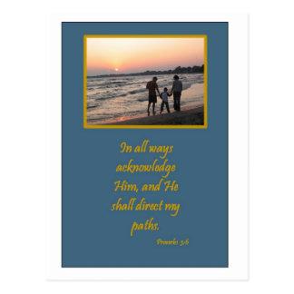"""""""Faith"""" Sunset Products Postcard"""