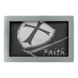 Faith Sword and Shield Belt Buckle Ephesians Armor