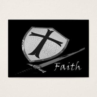 faith sword shield with Psalm 91 verses Business Card