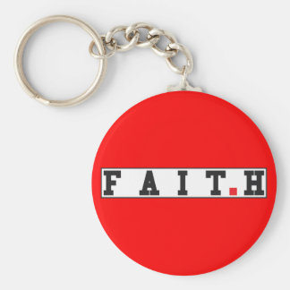 faith text message emotion feeling red dot square keychain