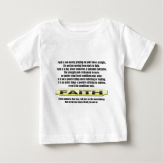 FAITH - THE DEFINITION Great Inspirational Thought Baby T-Shirt
