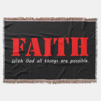 Faith Throw Blanket