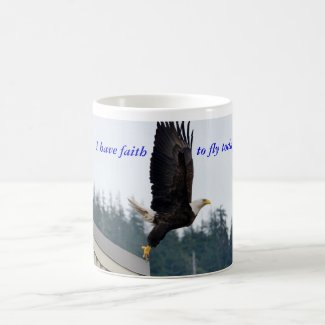 Faith to fly mug