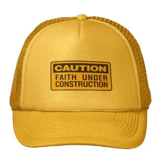 Faith Under Construction Cap Trucker Hat
