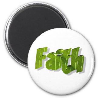 Faith Vert 3D 2 Inch Round Magnet