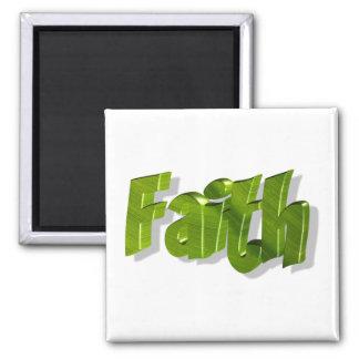 Faith Vert 3D 2 Inch Square Magnet