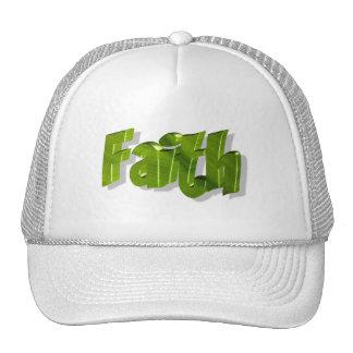 Faith Vert 3D Trucker Hats
