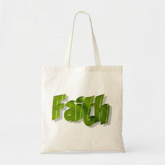 Faith Vert 3D Tote Bag