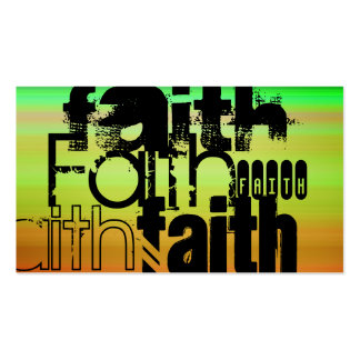 Faith; Vibrant Green, Orange, & Yellow Double-Sided Standard Business Cards (Pack Of 100)