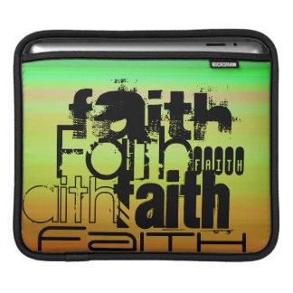 Faith; Vibrant Green, Orange, & Yellow iPad Sleeves