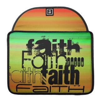 Faith; Vibrant Green, Orange, & Yellow Sleeves For MacBook Pro