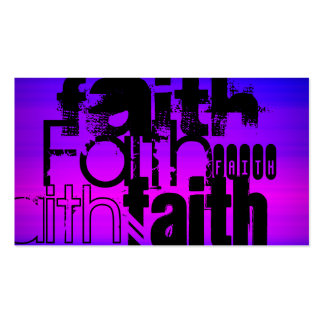 Faith; Vibrant Violet Blue and Magenta Double-Sided Standard Business Cards (Pack Of 100)