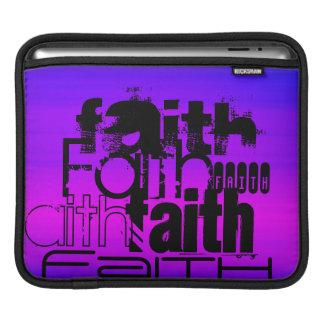 Faith; Vibrant Violet Blue and Magenta iPad Sleeves