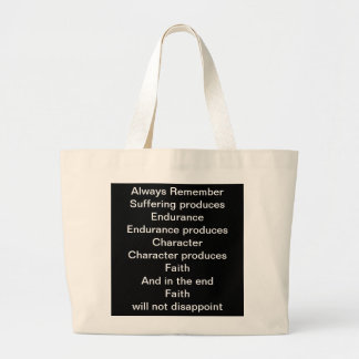 Faith will not Disappoint Jumbo Tote Bag