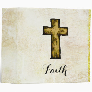 Faith Wooden Cross Symbol of Hope and Inspiration Binder