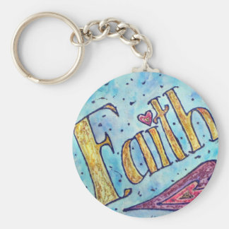 Faith Word Art Painting Key Chain
