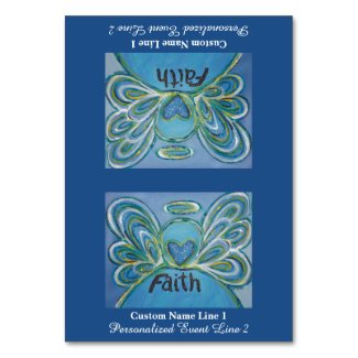 Faith Word Inspirational Angel Custom Table Tents Table Number