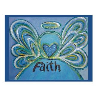 Faith Word Inspirational Angel Postcard