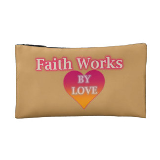 Faith Works By Love Small Cosmetic Bag