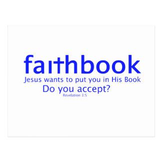 faithbook postcard