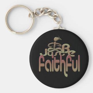Faithful Basic Round Button Keychain