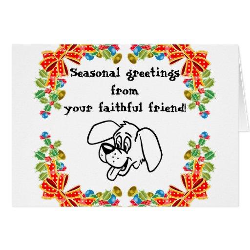 Faithful Dog Greetings Card