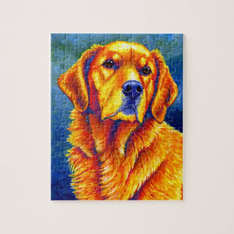 Faithful Friend Colorful Golden Retriever Puzzle