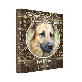 Faithful Friend Custom Pet Sympathy Canvas Prints