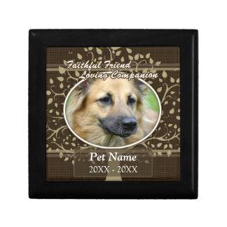 Faithful Friend Custom Pet Sympathy Jewelry Box