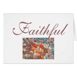 Faithful greeting cards Heart Leaves Faith Rocks