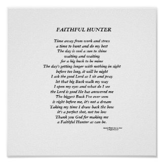 Faithful Hunter Poster