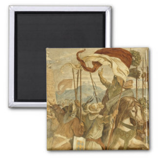 Faithful Men are the best wall', c.1855 2 Inch Square Magnet