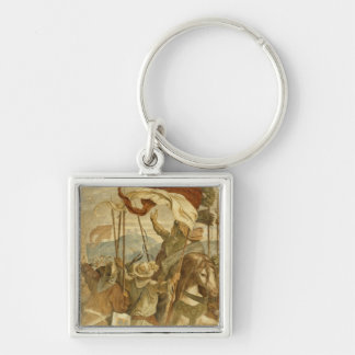 Faithful Men are the best wall', c.1855 Silver-Colored Square Keychain