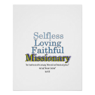 Faithful Missionary Minister Poster
